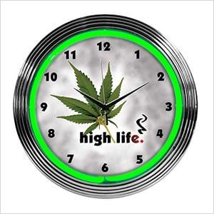 15-Inch High Life Neon Clock