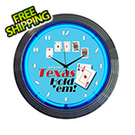Neonetics 15-Inch Texas Hold Em Neon Clock
