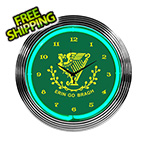Neonetics 15-Inch Irish Erin Go Bragh Neon Clock
