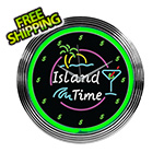 Neonetics 15-Inch Island Time Neon Clock