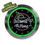 Neonetics 15-Inch Island Time Neon Clock