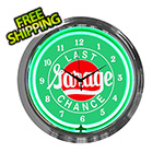 Neonetics 15-Inch Last Chance Garage Neon Clock