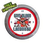 Neonetics 15-Inch Lacrosse Neon Clock