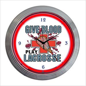 15-Inch Lacrosse Neon Clock