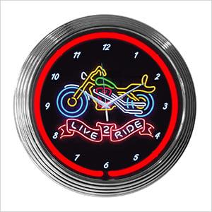 15-Inch Live 2 Ride Neon Clock