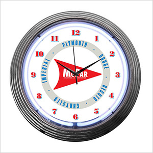15-Inch Mopar Arrow Neon Clock