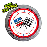 Neonetics 15-Inch Mopar Checkered Flag Neon Clock