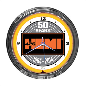 15-Inch Hemi 50th Anniversary Neon Clock