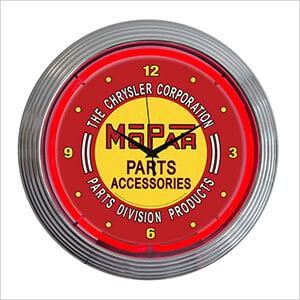 15-Inch Mopar Red Vintage Neon Clock