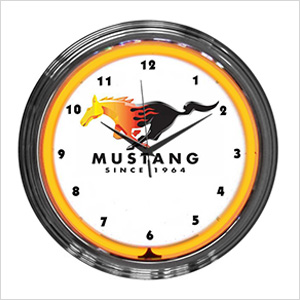 15-Inch Ford Mustang Since 1964 Neon Clock