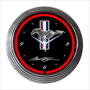 15-Inch Ford Mustang Neon Clock