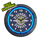 Neonetics 15-Inch Oldsmobile Service Neon Clock