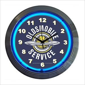 15-Inch Oldsmobile Service Neon Clock