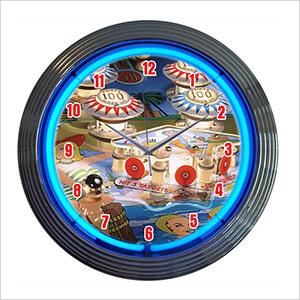 15-Inch Pinball Neon Clock