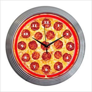 15-Inch Pizza Neon Clock