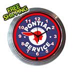 Neonetics 15-Inch Pontiac Service Neon Clock
