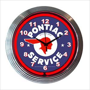 15-Inch Pontiac Service Neon Clock