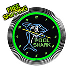 Neonetics 15-Inch Pool Shark Neon Clock