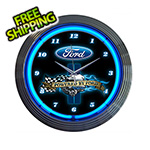 Neonetics 15-Inch Powered by Ford Neon Clock