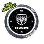 Neonetics 15-Inch Ram Neon Clock