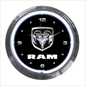 15-Inch Ram Neon Clock