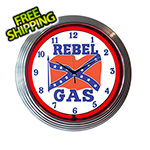 Neonetics 15-Inch Rebel Gas Neon Clock