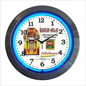 15-Inch Rock-Ola Jukebox Neon Clock