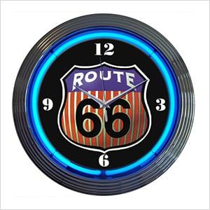 15-Inch Route 66 Neon Clock