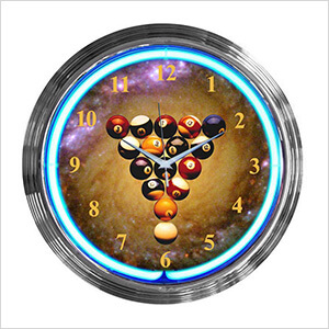15-Inch Billiards Spaceballs Neon Clock