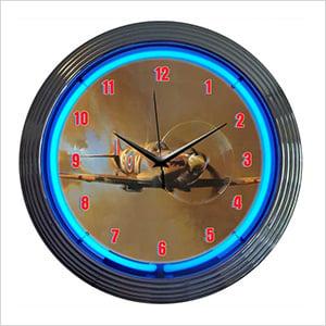 15-Inch Spitfire Neon Clock