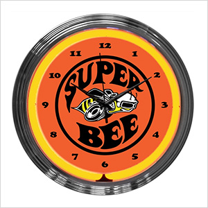 15-Inch Super Bee Neon Clock