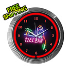 Neonetics 15-Inch Tiki Bar Neon Clock