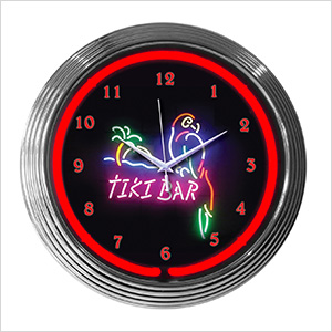 15-Inch Tiki Bar Neon Clock