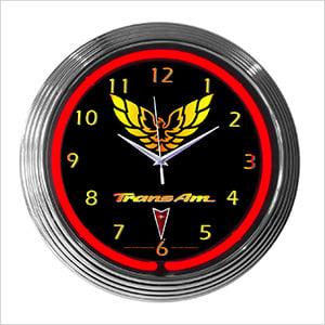 15-Inch Trans Am Neon Clock