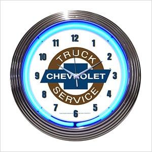 15-Inch Chevy Truck Neon Clock