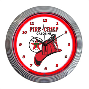 15-Inch Texaco Fire Chief Neon Clock