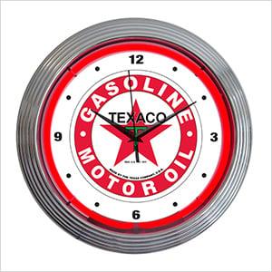 15-Inch Texaco Gasoline Neon Clock