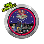 Neonetics 15-Inch Las Vegas Strip Neon Clock