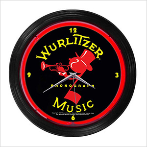 15-Inch Wurlitzer Johnny One Note Neon Clock