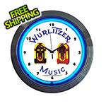 Neonetics 15-Inch Wurlitzer Jukebox Neon Clock