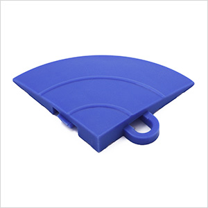 Blue Garage Floor Tile Ramp Corner