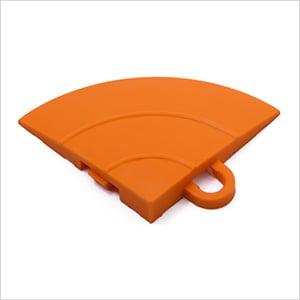 Orange Garage Floor Tile Ramp Corner