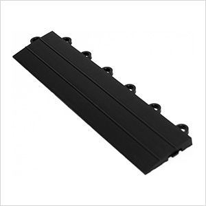 Black Garage Floor Tile Ramp - Female