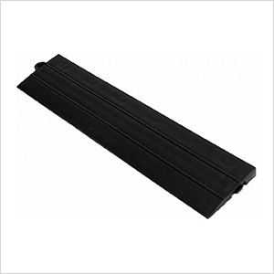 Black Garage Floor Tile Ramp - Male