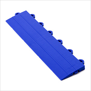 Blue Garage Floor Tile Ramp - Female
