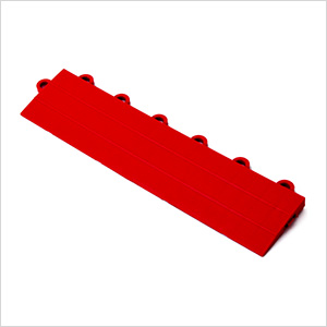 Red Garage Floor Tile Ramp - Female