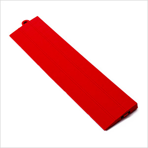 Red Garage Floor Tile Ramp - Male