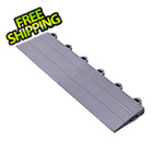 Turbo Tile Silver Garage Floor Tile Ramp - Female