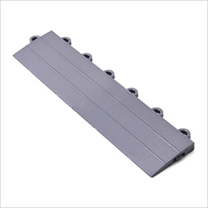 Silver Garage Floor Tile Ramp - Female