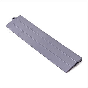 Silver Garage Floor Tile Ramp - Male